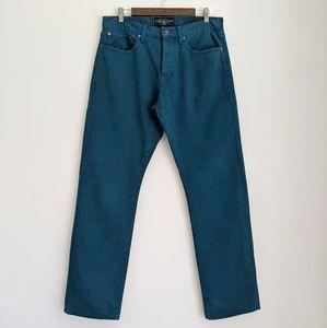 LUCKY BRAND 121 Heritage Slim Turquoise Denim, 34